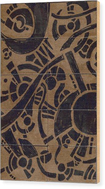 Flipside 1 Panel B Wood Print