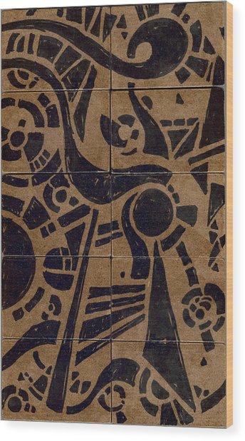 Flipside 1 Panel C Wood Print