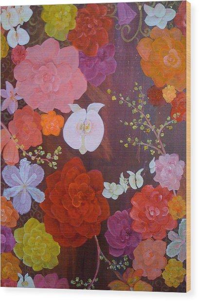 Flirty Blossoms Wood Print by Sabra Chili