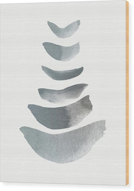 Floating 1- Zen Art By Linda Woods Wood Print