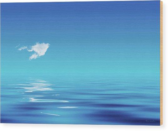 Floating Cloud Wood Print