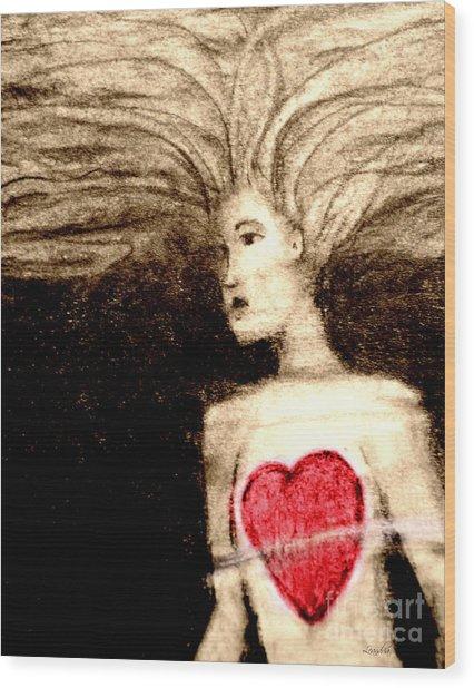 Floating Heart Wood Print