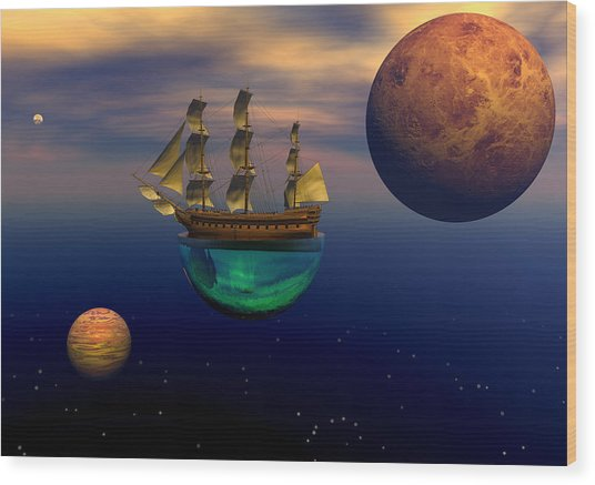 Floating On A Dream Wood Print by Claude McCoy