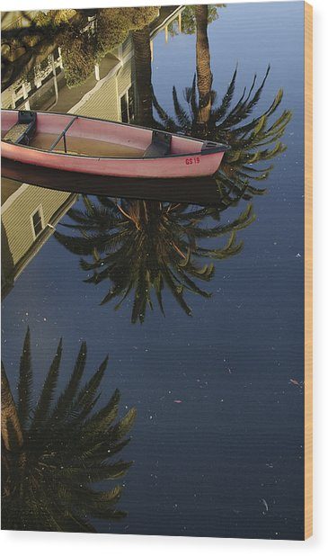 Floating On Palms Wood Print