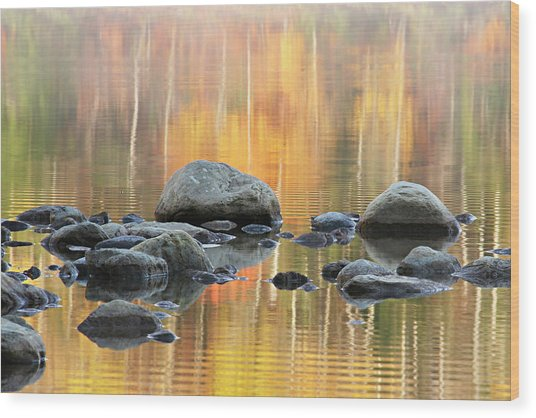 Floating Rocks Wood Print