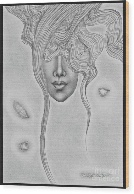 Floating Sorrow Wood Print