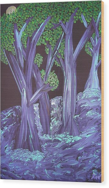 Flooded Forest Wood Print