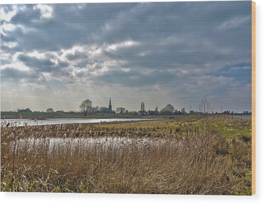 Floodplains Near Culemborg Wood Print