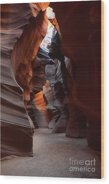 Floor Of Antelope Canyon Wood Print by Stan and Anne Foster