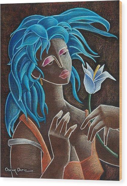 Flor Y Viento Wood Print