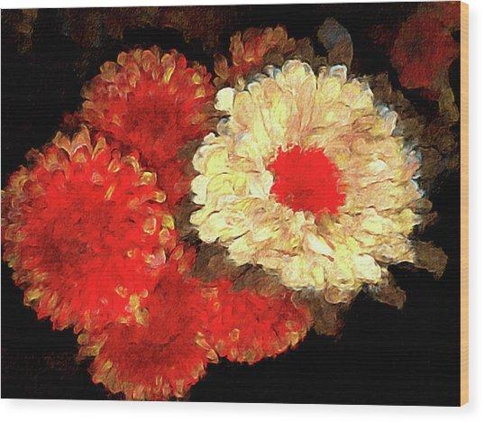 Flora Barcelona Wood Print