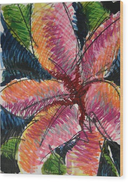 Flora Exotica 3 Wood Print by Dodd Holsapple