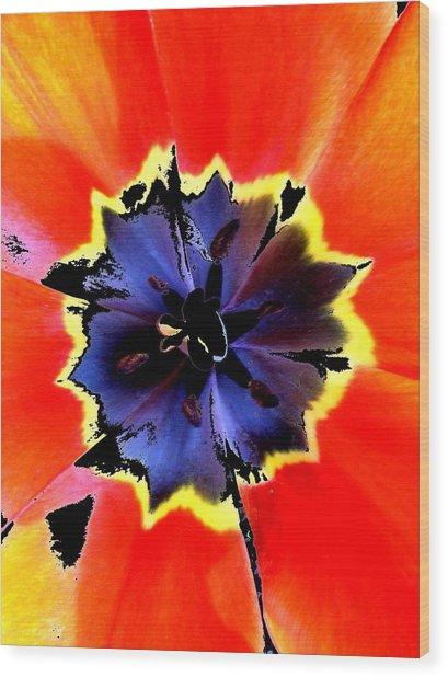 Floral 1229 Wood Print by Chuck Landskroner