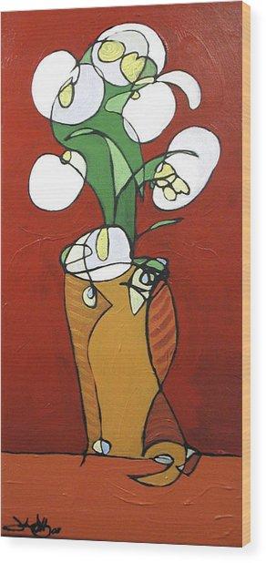 Floral 32 Wood Print