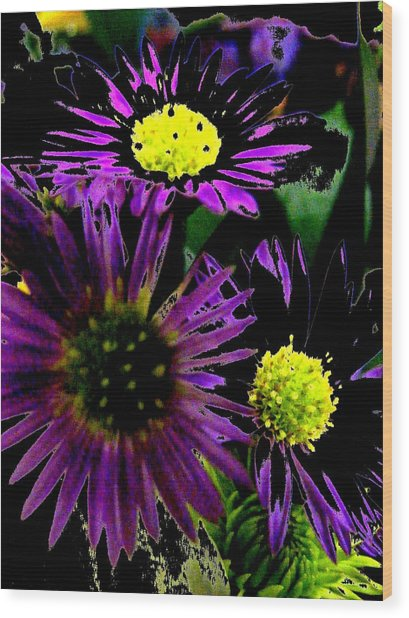 Floral 81 Wood Print by Chuck Landskroner