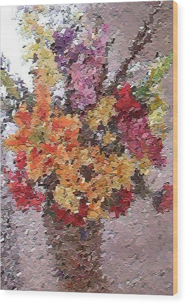 Floral Arrangement Wood Print by Don Phillips