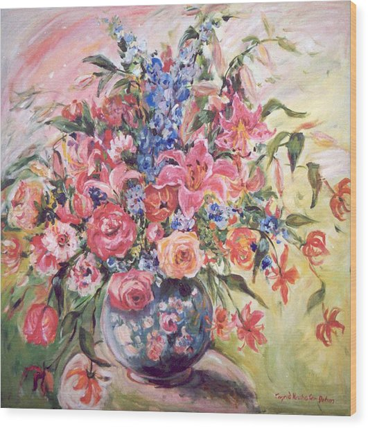 Floral Arrangement No. 2 Wood Print