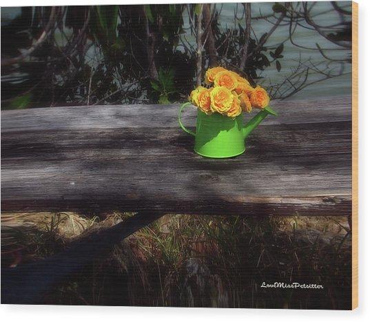 Floral Art 4 Wood Print