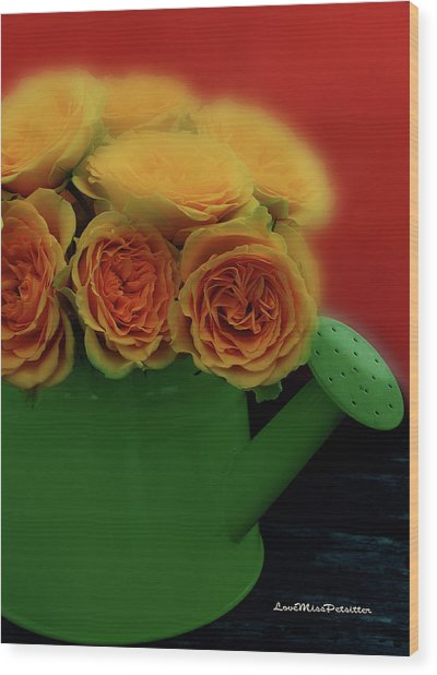 Floral Art 5 Wood Print