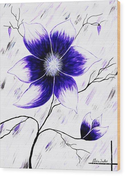 Floral Awakening Wood Print