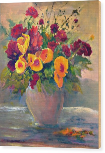 Floral Bouquet Wood Print by Jimmie Trotter