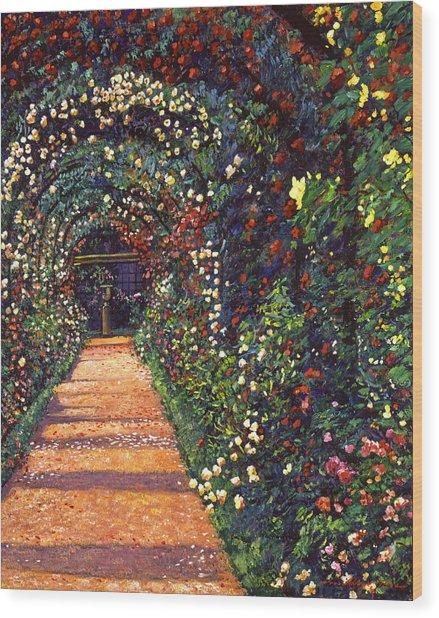 Floral Canopy Wood Print by David Lloyd Glover