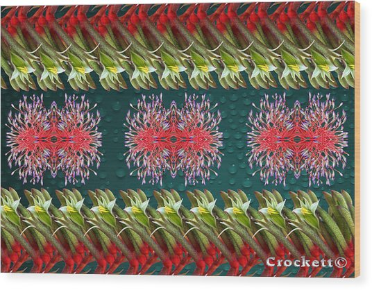 Floral Contemporary Art Wood Print