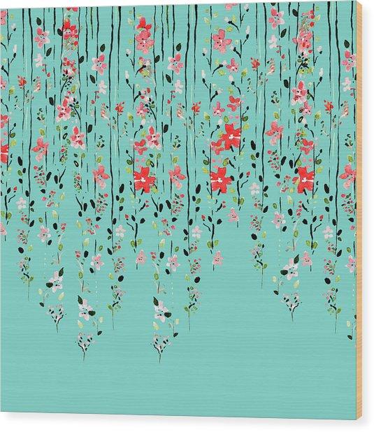Floral Dilemma Wood Print