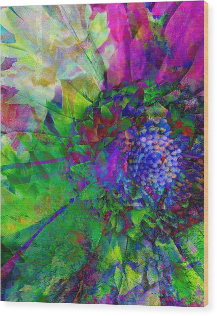 Floral Expressions I Wood Print by Ricki Mountain