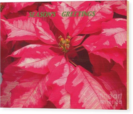 Floral Greetings Wood Print