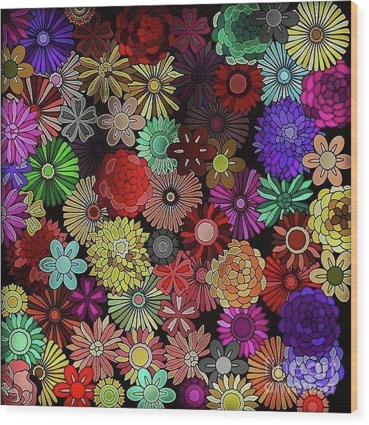 Floral Love Wood Print