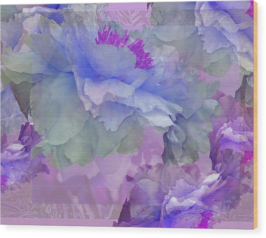 Floral Potpourri With Peonies 4 Wood Print
