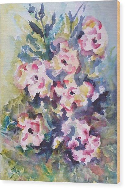 Floral Rhythm Wood Print