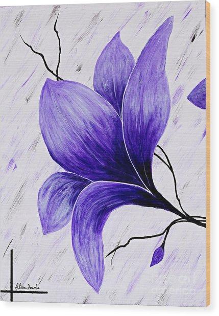 Floral Slumber Wood Print