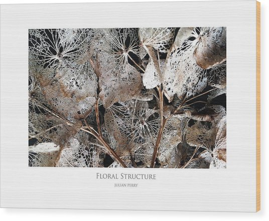 Floral Structure Wood Print