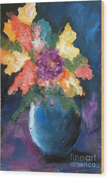Floral Study 1 Wood Print