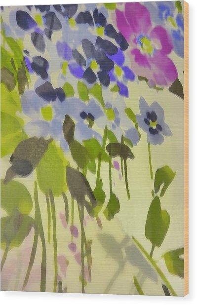 Floral Vines Wood Print by Florene Welebny