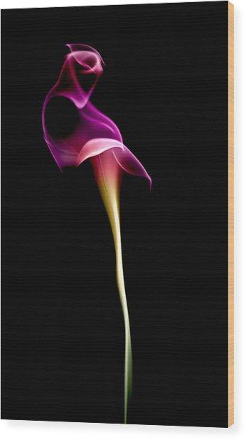 Floral Wisp Wood Print