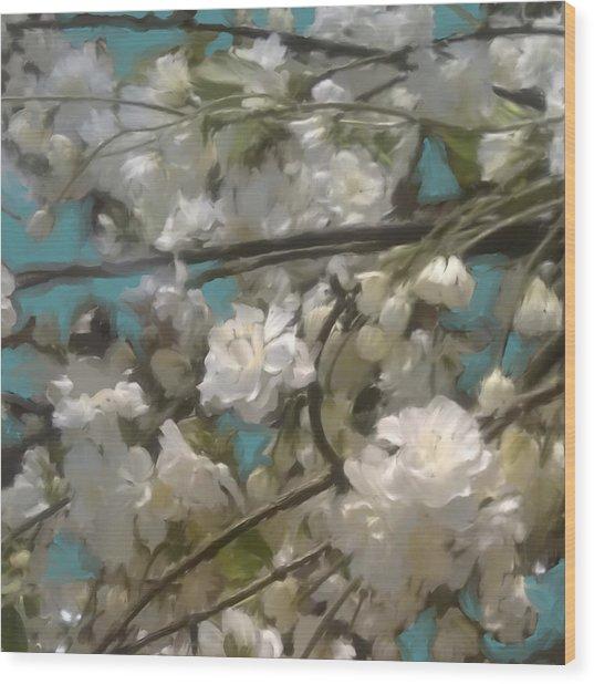 Floral01 Wood Print