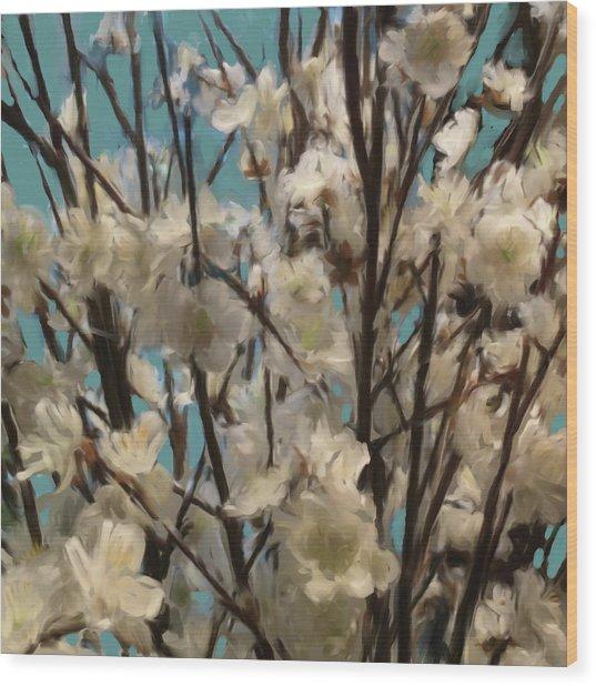 Floral02 Wood Print
