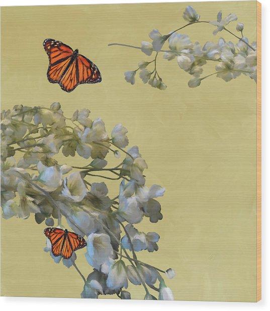 Floral05 Wood Print