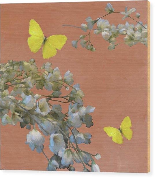 Floral06 Wood Print