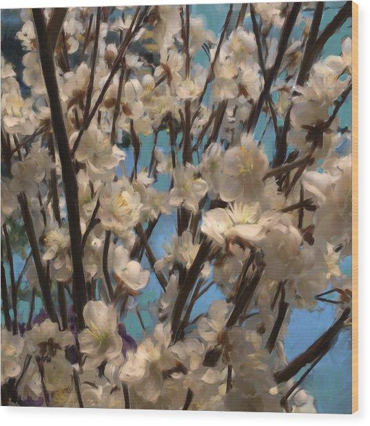 Floral08 Wood Print