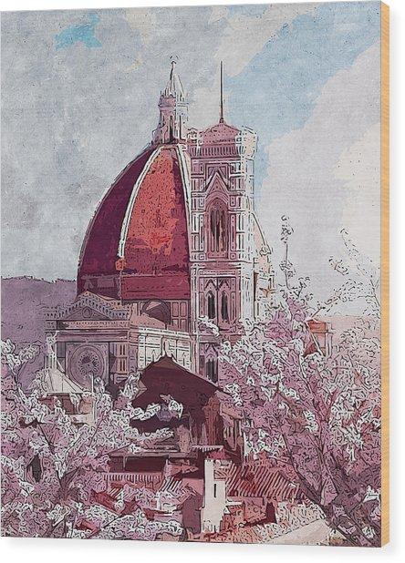 Florence - 16 Wood Print