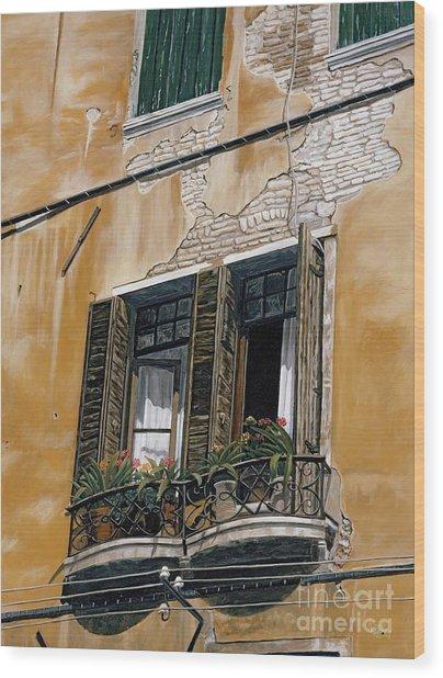Florence Balcony Wood Print