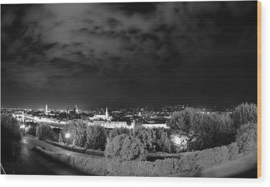 Florence From Above Wood Print