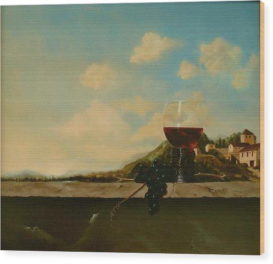 Florence Wood Print by Tjerk Reijinga