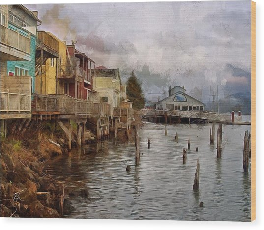 Wood Print featuring the photograph Scene On The Siuslaw  by Thom Zehrfeld