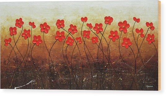 Flores De Mi Jardin Wood Print