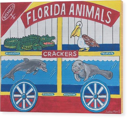 Florida Animal Crackers Wood Print